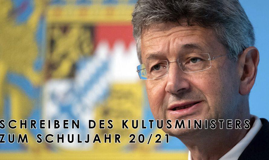 Kultusminister Piazolo zum Schulstart 2020/21